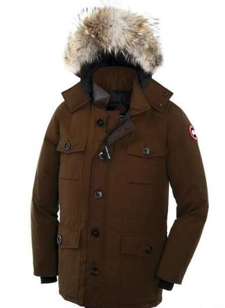 秋冬セールのCANADA goose カナダグース 通販 ジャスパー ファーフードが付き メンズ ダウン ジャケット 多色選択可能.