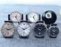 2015 人気商品登場 アルマーニ 恋人腕時計 サファイヤクリスタル風防 日付表示 3色可選 オリジナル クオーツ?ムーブメント