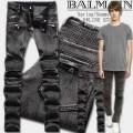 2015 今買い◎得 バルマン BALMAIN テーパードデニムパンツ しわのデザイン