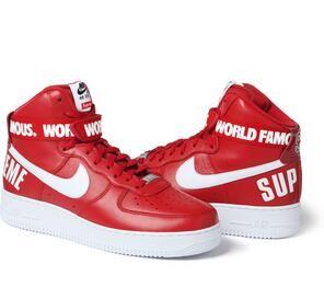 完売品 Supreme × Nike 14FW Air Force 1 High ファッション性に溢れるシューズ.