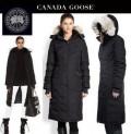 軽量な着心地抜群な女性らしいCANADA GOOSE カナダグース3色選択可能のレデイース用のロングダウンコート.