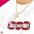 ◆モデル愛用◆  Supreme Monogram box logo bogo Tee 17春夏  2色可選    半袖Tシャツ     シュプリーム SUPREME