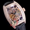 人気新品★超特価★ FRANCK MULLER 2017春夏 完売品! 男性用腕時計 多色選択可 透かし彫りムーブメント