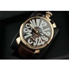 夜光効果あるガガミラノ GaGa MILANO マヌアーレ48MM メンズ 5011.11S 圧倒的な存在感ある時計