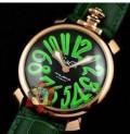 大注目 GaGa MILANO ガガミラノ  手頃な価格腕時計 5021.06 502106 5021.6 50216 マヌアーレ 40mm グリーン レザー