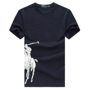 伸縮性良いPolo Ralph LaurenポロラルフローレンTシャツコピーのメンズクルーネック半袖Tシャツ赤色3色可選