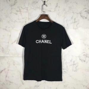 今シーズン新作シャネル スーパーコピー 激安CHANEL半袖Tシャツ男性服人気品夏のセール品ブラック白薄い生地