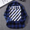 デザインにこだわりオフホワイト 長袖 コピーOFF-WHITEスーパーコピーメンズチェックシャツコピー