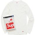 オンラインストア 長袖/Tシャツ  Supreme Hanes Thermal Crew シュプリーム 可愛いすぎる  SUPREME