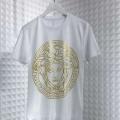 関税送料込 大人気 VERSACE ロゴ入りコットンジャージーTシャツ41671176ヴェルサーチ コピー2色展開クルーネック