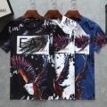 爆買い送料無料綿100%デイリー幅広いテイストtシャツ半袖ブラックホワイトブルーARMANIアルマーニ t シャツ 偽物
