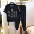 ヴィトン コピー 通販LOUIS VUITTON新作入荷人気活躍度の高いプリントTシャツ黒白上下セットコットン素材女性