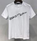 全国無料大人気丈夫なTシャツ半袖英字プリントVERSACEヴェルサーチ コピー綺麗なシルエットブラックホワイト