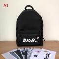 Dior ディオール メンズ バックパック スーパーコピー ブラック レザー ファッション 最安値 3色選択可 1KWBA064YLE_H03E