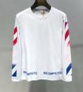 2019春夏注目のブランドおすすめ Off-White オフホワイト 長袖Tシャツ 2色可選 春夏トレンド先取り