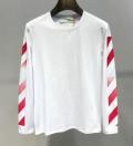 Off-White オフホワイト 長袖Tシャツ 2色可選 先取り!2019年春夏トレンド 夏でも快適な着心地