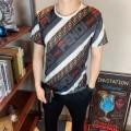 半袖Tシャツ きれいめな印象で着こなし フェンディキレイ色チェック春夏 FENDI 9年春夏アイテム安い クラシックな雰囲気のトップス