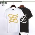 春夏トップス最新情報をチェック 半袖Tシャツ 2019トレンド感満載なアイテム 2色可選 夏おしゃれを先取り フェンディ FENDI人気を抑えて新品