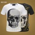 フィリッププレイン 【2019年春夏】人気ブランドの最新  PHILIPP PLEIN Tシャツ/半袖 オシャレスタイルは今季も 2色可選
