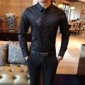 スタイルをすっきりにする  2色可選 シャツ センスアップできるコーデ アルマーニ   ARMANI